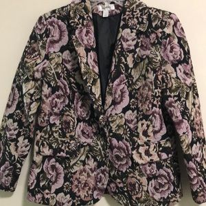 Dress Barn Blazer Jacket Beautiful Brocade SZ S